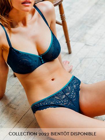 Lingerie pour jeunes femmes aux poitrines généreuses en dentelle douce et sexy