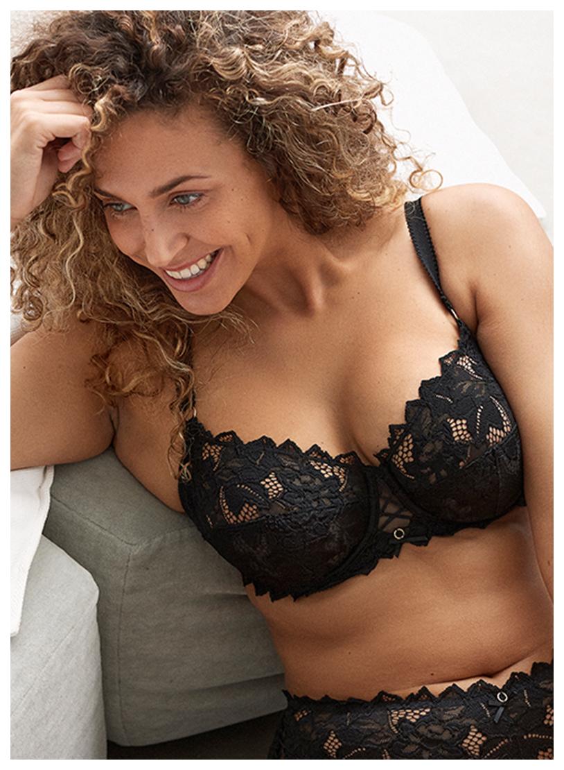 Nouvelle lingerie premium en dentelle séduction pour poitrines généreuses jusqu'au bonnet G