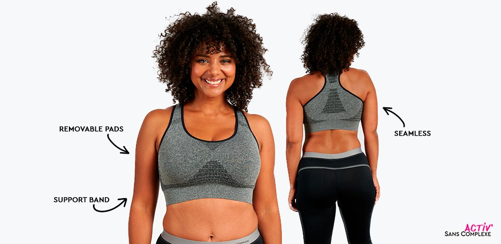 Non-wired sports bralette with breathable fabric for big cup sizes