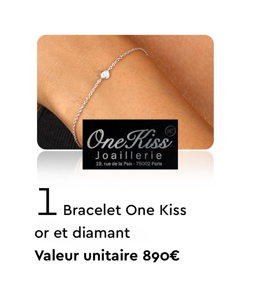 1 Bracelet One Kiss Or et Diamant - Valeur unitaire 890€