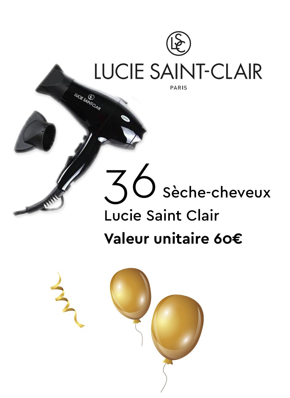 36 Sèche-cheveux Lucie Saint Clair - Valeur unitaire 60€